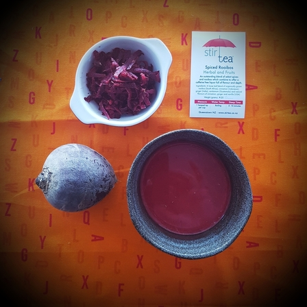 Spiced Rooibos with Beetroot Latte